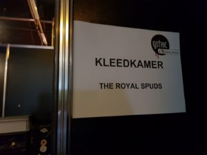 Royal Spuds dressing room